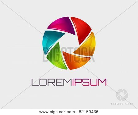 Photo Logo Template. Diaphragm Icon.