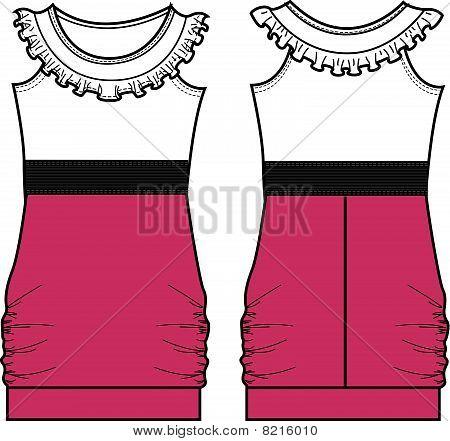 Lady Mode eine Line-Kleid