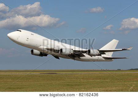 Low Pass Of Big White Plane