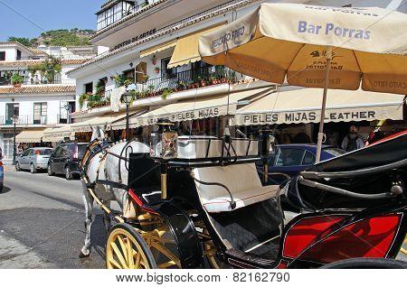 Horse drawn carriage, Mijas.