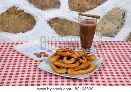 Churros and Hot Chocolate.