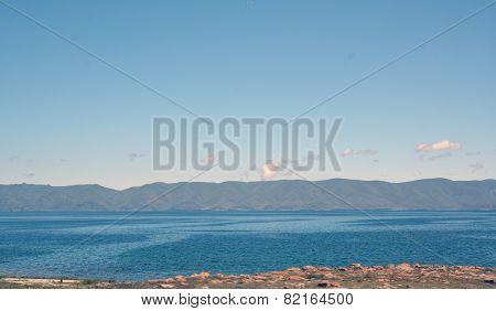 Seval Lake With Mountains