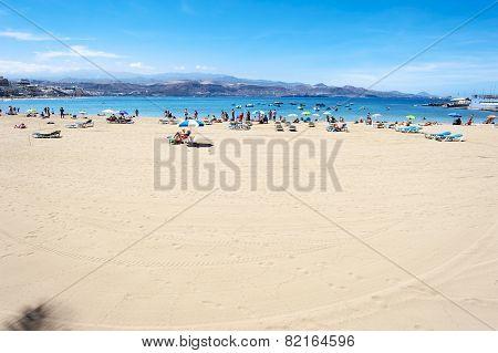 Canteras Beach In Gran Canaria Spain