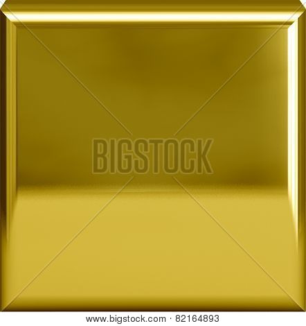 Golden Metal Plate Or Period / Fullstop