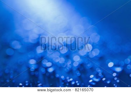 Light Bokeh On Blue Background