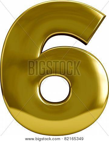 Gold Metal Letter 6