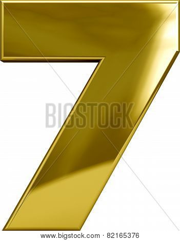 Gold Metal Number 7