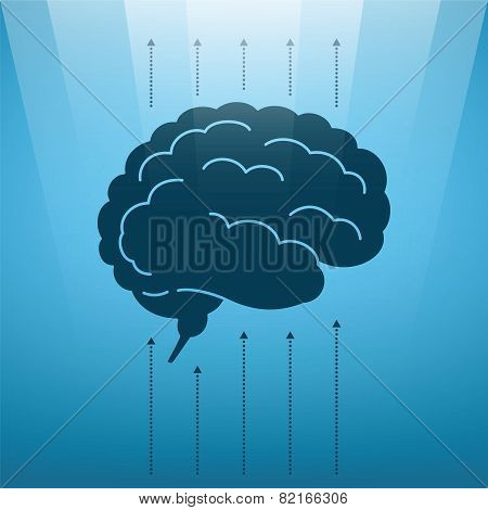 Vector Concept Of Soaring Human Brain