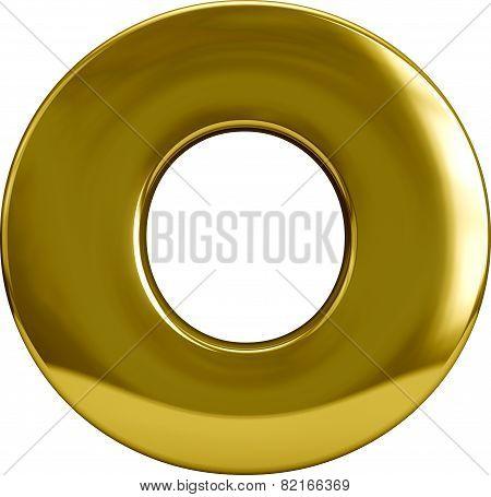 Gold Metal Letter O