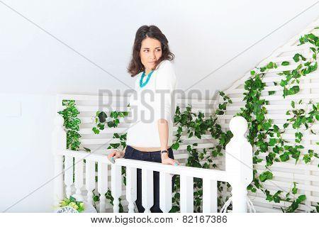 Beautiful Girl On The Terrace