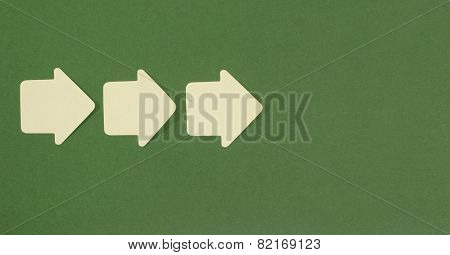 Paper Arrows Pointing Forward