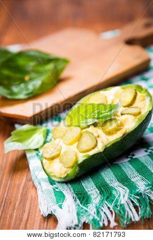 Salad In Avocado
