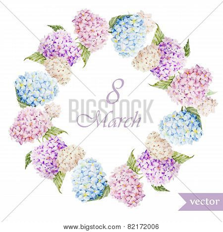 March 8, hydrangea, wreath, flowers3