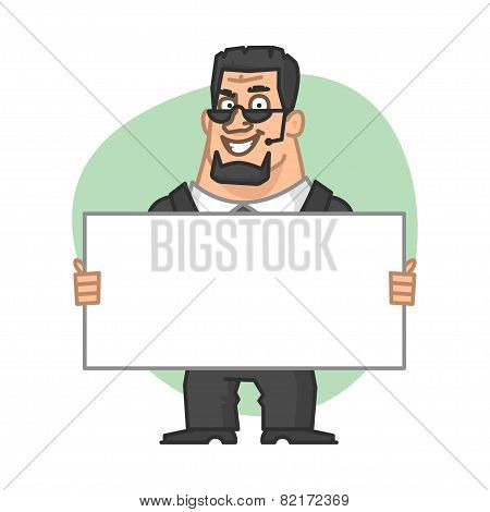 Guards holding blank plate