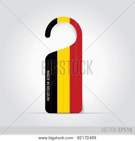Made In Belgium Tag For Door