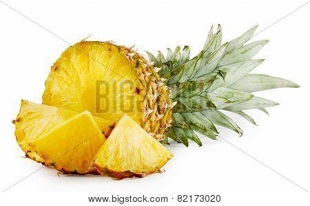 Juicy Ripe Sliced Pineapple