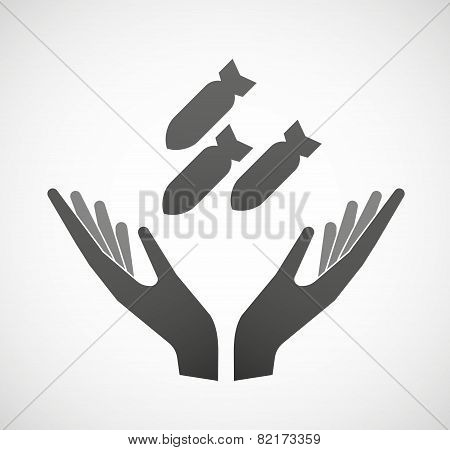 Two Hands Offering Bombs