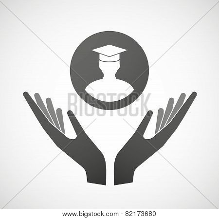 Two Hands Offering A Student
