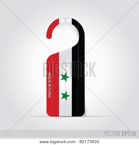 Made In  Syria  Tag For Door