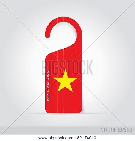 Made In  Vietnam  Tag For Door