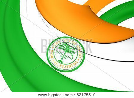 Flag Of Miami, Usa.