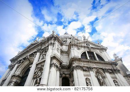 Low Angle View Of Santa Maria Della Salute Church