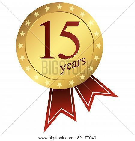 Gold Jubilee Button - 15 Years