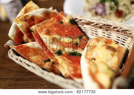 Pieces Of Focaccia Marinara