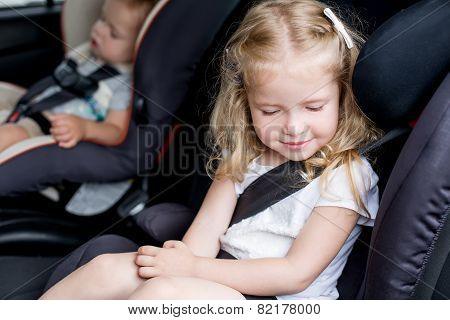 Toddler Cute Kids In Car Seats