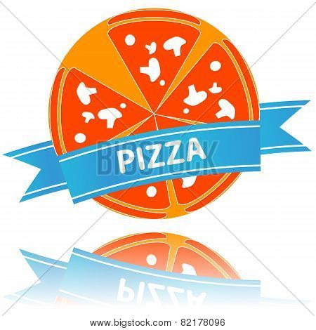 Pizza icon slices arranged beautifully