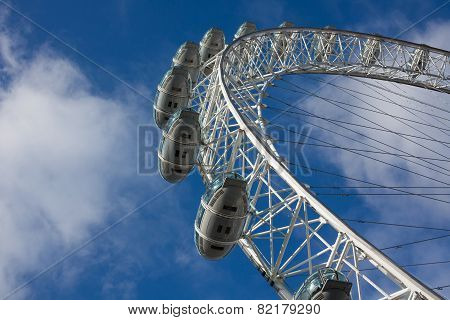 Tourists In The Capsules Of London Eye