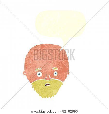 cartoon shocked bald man
