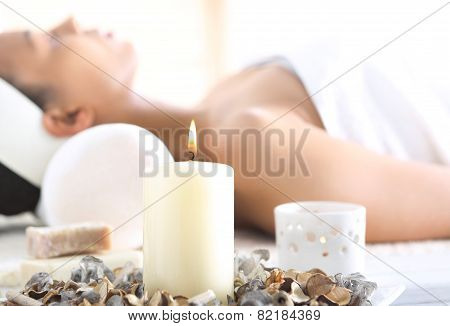 Aromatherapy relaxation in the wellness clinic