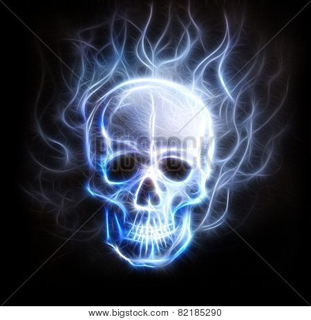 Pirate skull Fractal Ornament Background