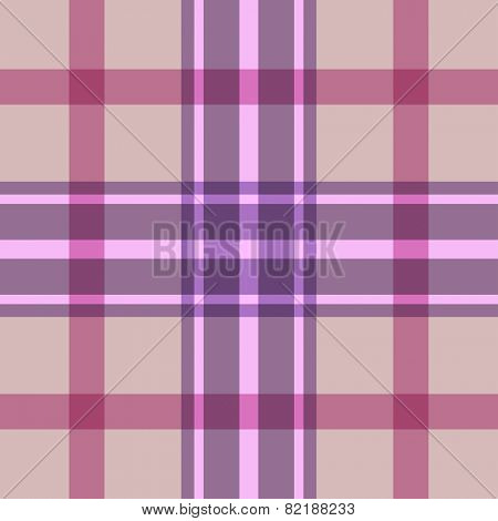 Beige and pink seamless plaid pattern.
