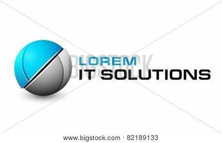 Logo template, techno sphere