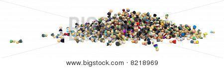 Cartoon Crowd, Pile
