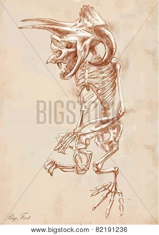 An Hand Drawn Vector: Bifoot (yeti)