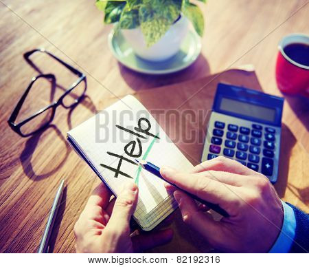 Business Help Support Office Strategy Working Concept