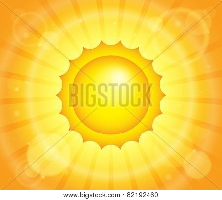 Abstract sun theme image 1 - eps10 vector illustration.