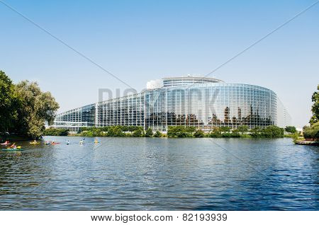European Parliament In Strasbourg With Canoers