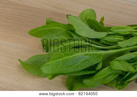 Green Sorrel Leaves