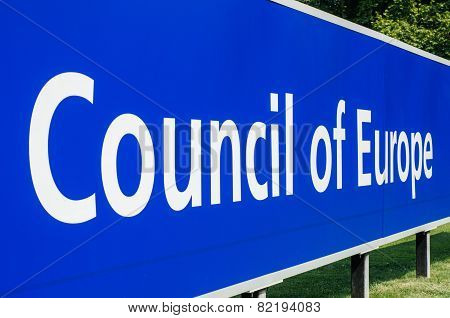 Perspective Viiw Of Council Of Europe Main Signage
