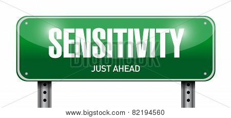 Sensitivity Road Sign Illustration Design