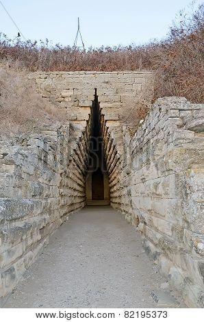 Entrance To The Royal Kurgan In Kerch