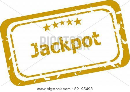 Jackpot Stamp Isolated On White Background