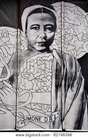 Street art Montreal Simone de Beauvoir