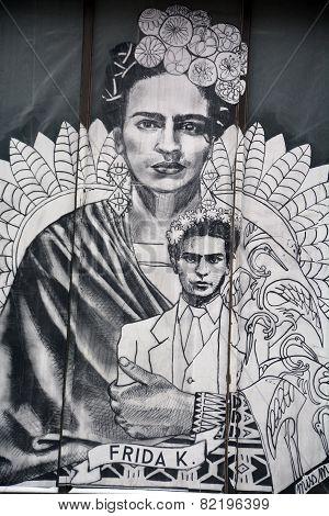 Street art Montreal Frida Kahlo
