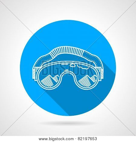 Goggles circle flat vector icon