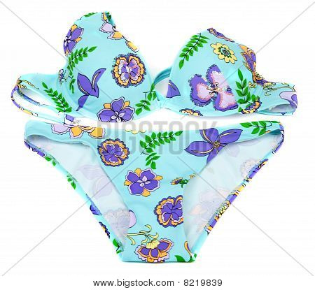 Feminine Blue Swimsuit